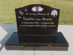 Flower and Butterfly Headstone