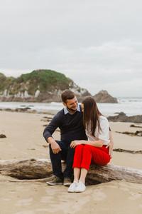 Kaka Point engagement photos
