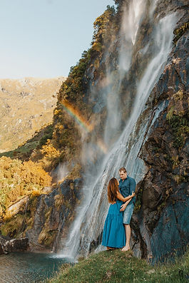 Wanaka-Waterfall-Engagement-Photos