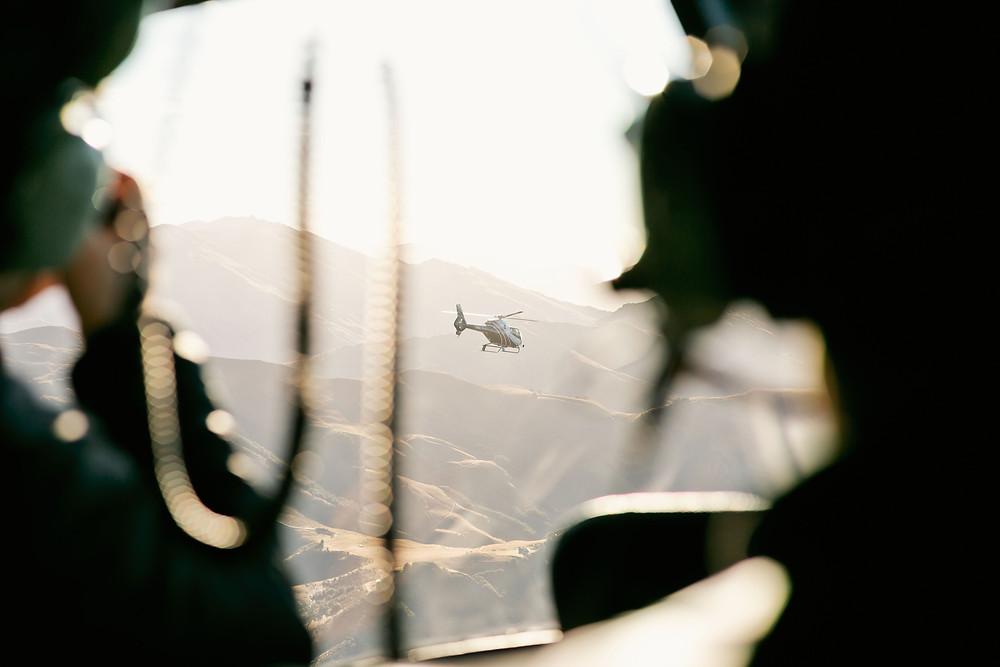 Queenstown sunrise helicopter elopement