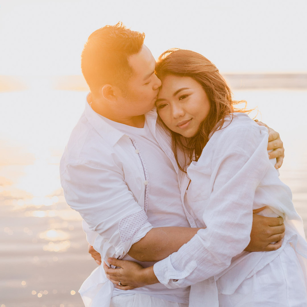 Oreti Beach sunset engagement photos