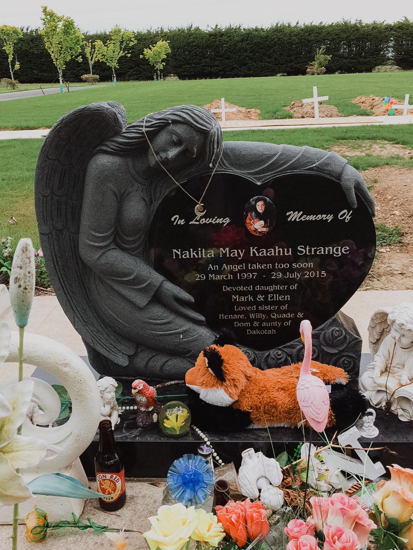 Angel Headstone in Invercargill