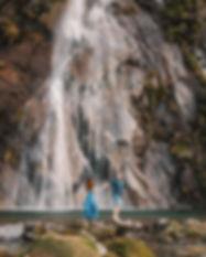 Waterfall-engagement-photo-Wanaka-New-Ze
