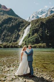 Milford Sound elopement photographer - New Zealand