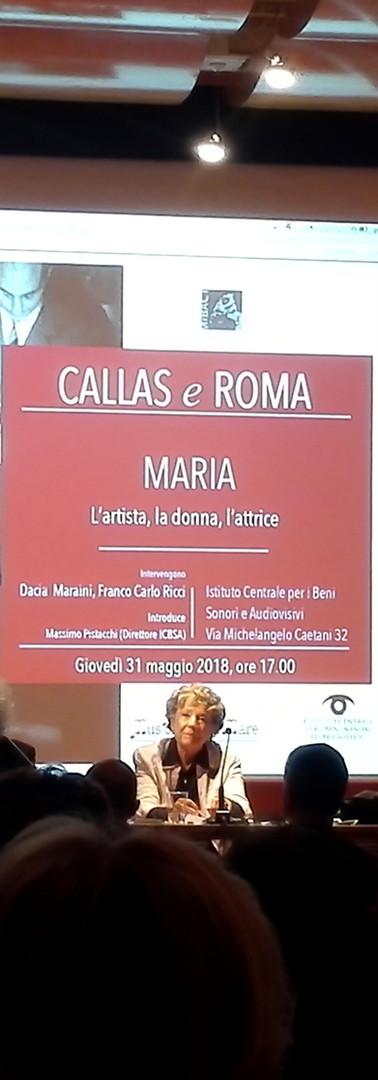 """Gianluca Rossi con Franco Carlo RIcci e Dacia Maraini durante una conferenza del progetto """"Callas e Roma"""""""