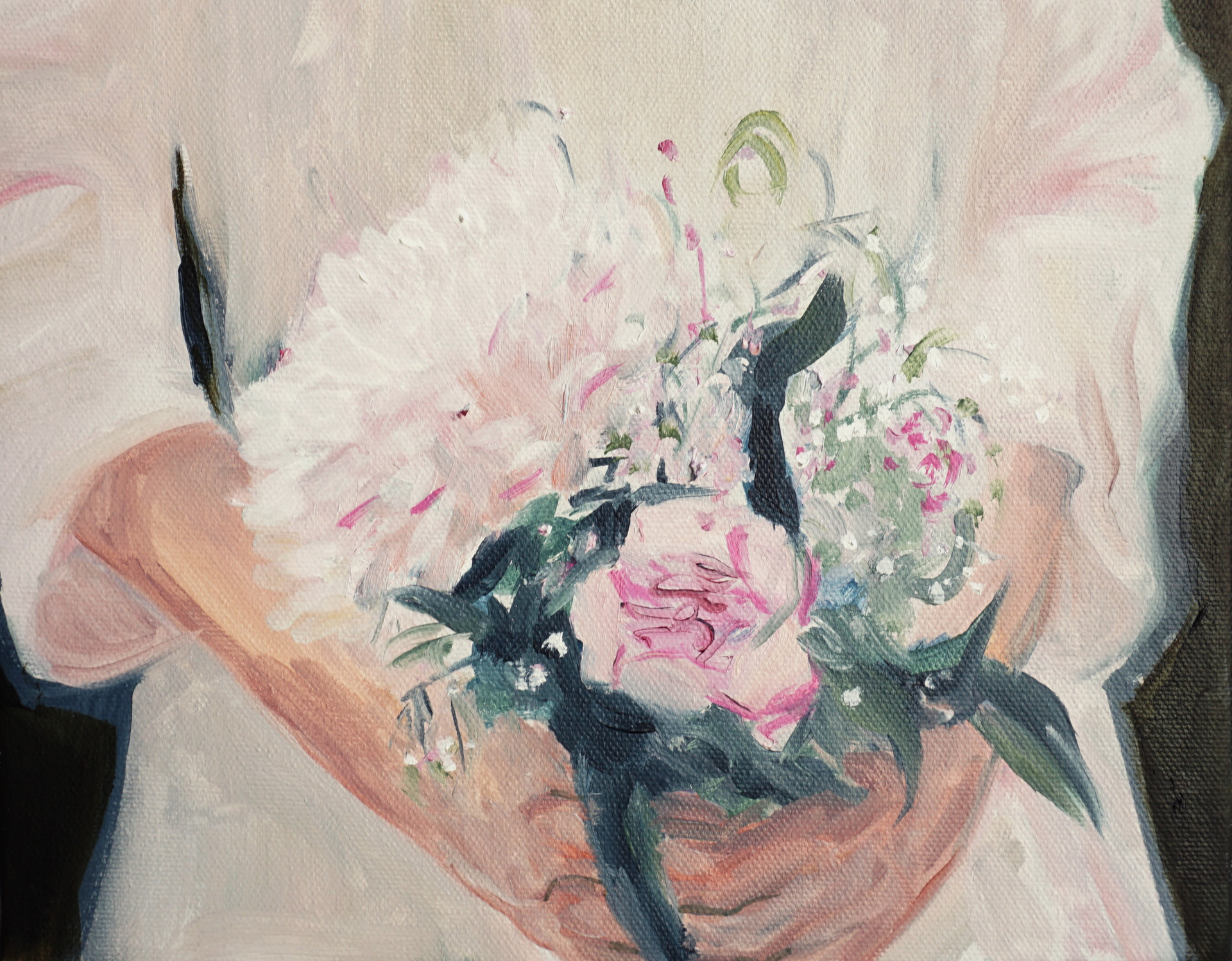Bouquet, oil paint on canvas, 8 x 10 inches, 2020