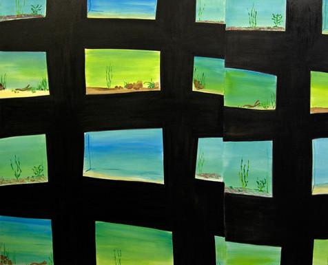 Multiverse, oil paint on canvas, 190 x 220 cm