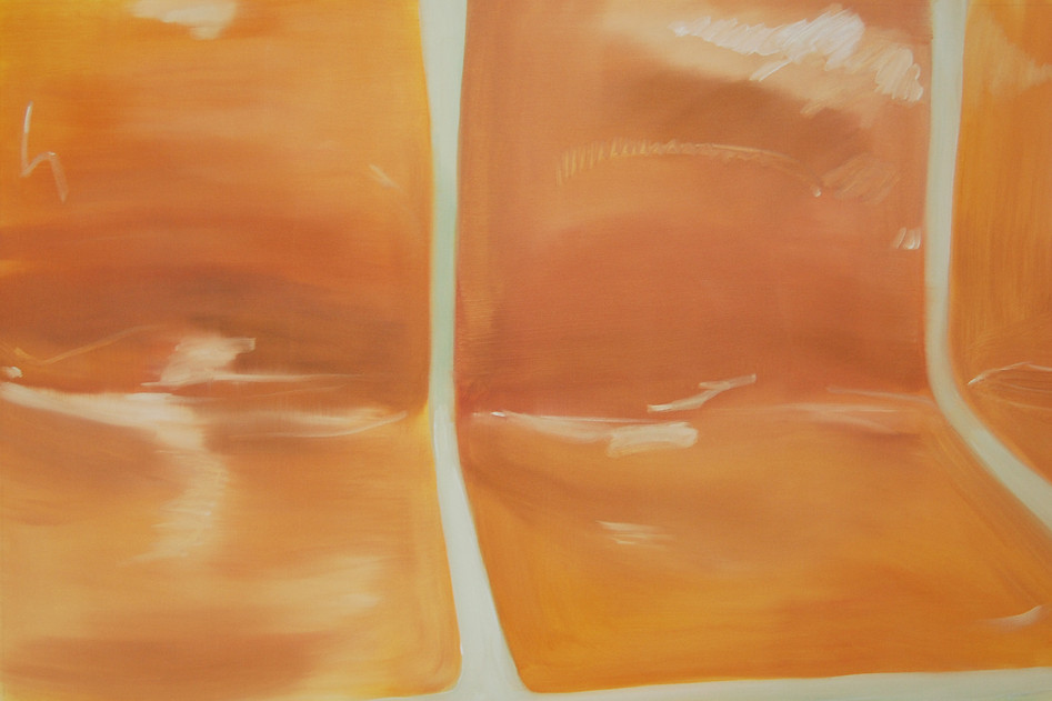 Orange Subway, oil paint on canvas, 24 x 36 inches