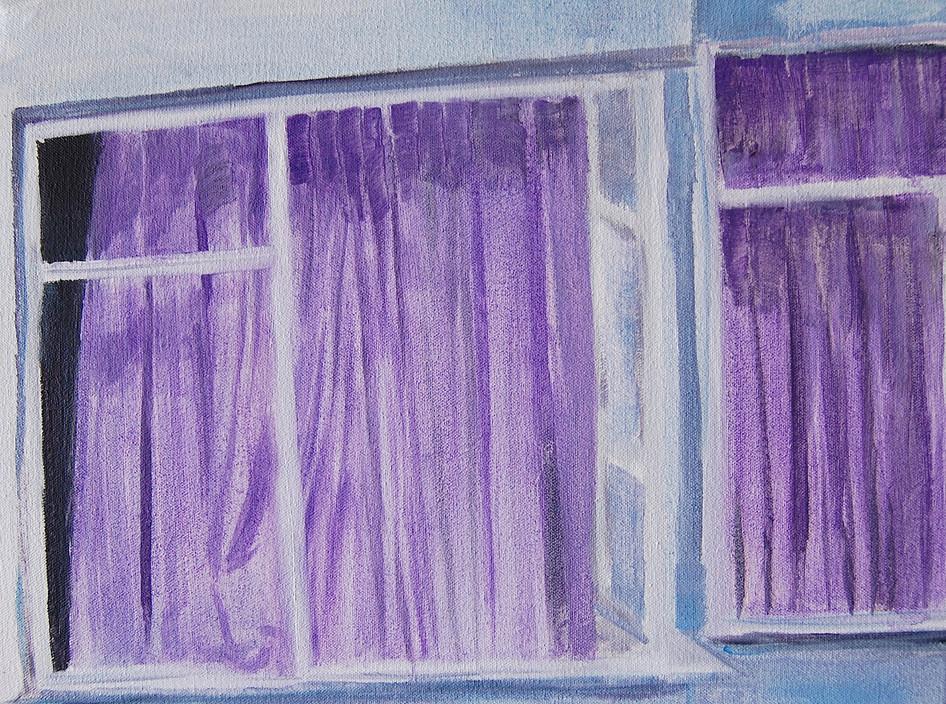 Cihangir Blues, oil paint on canvas, 8 x 10 inches