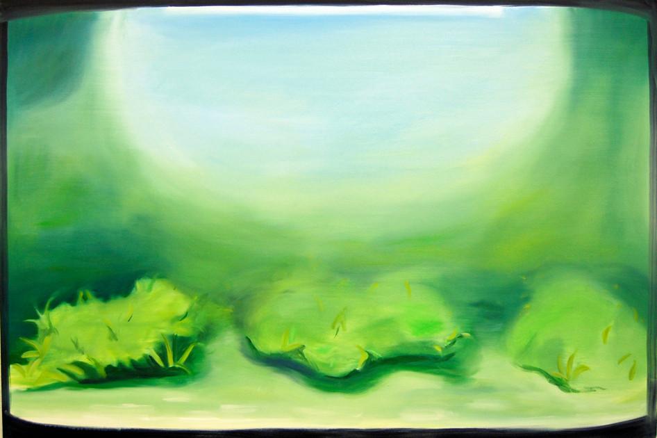 Dear Algae, oil paint on canvas, 150 x 180 cm