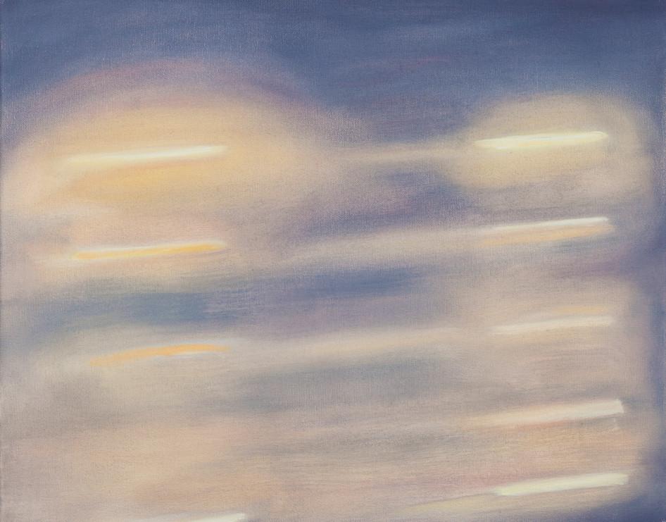 Evening Light, oil paint on canvas, 65 x 50 cm