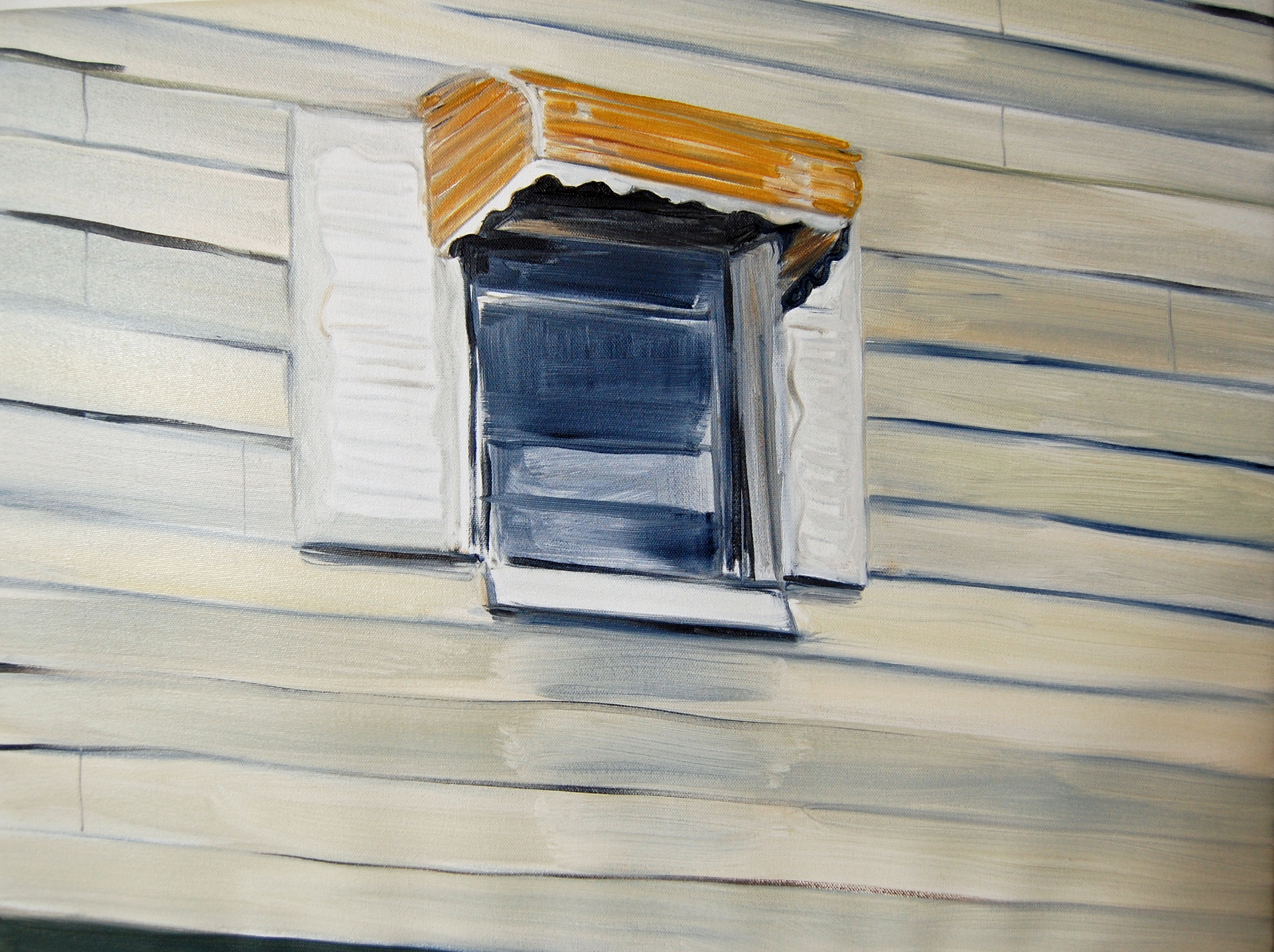 Gowanus Window, oil paint on canvas, 24 x 36 inches