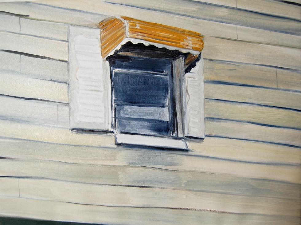 Gowanus Window, oil paint on canvas, 24 x 36 inches