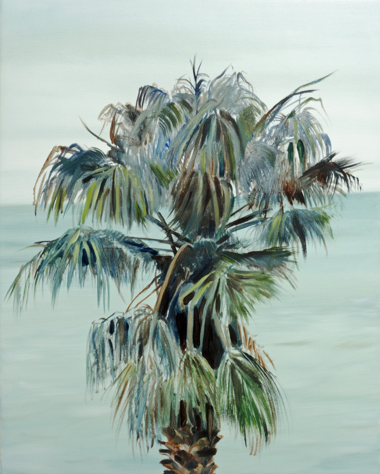 Cape Palm, oil paint on canvas, 20 x 16 inches, 2021