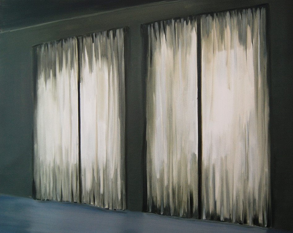 Double Window, oil paint on canvas, 40 x 52 inches