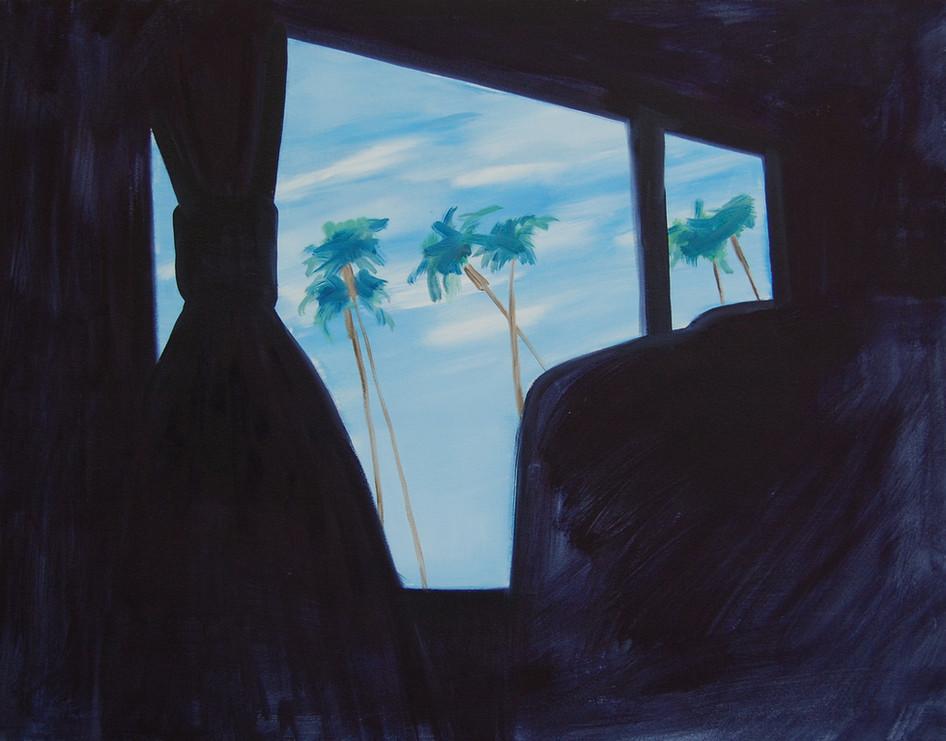 Surf Liner, oil paint on canvas, 70 x 55 cm