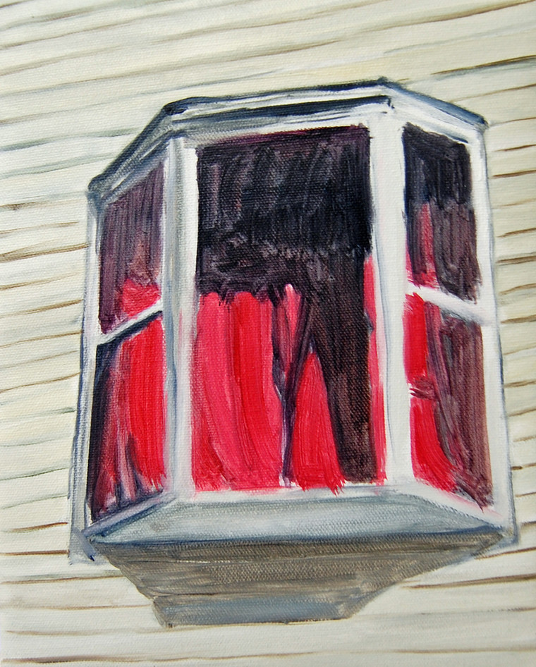 Red Window, oil paint on canvas, 10 x 8 inches