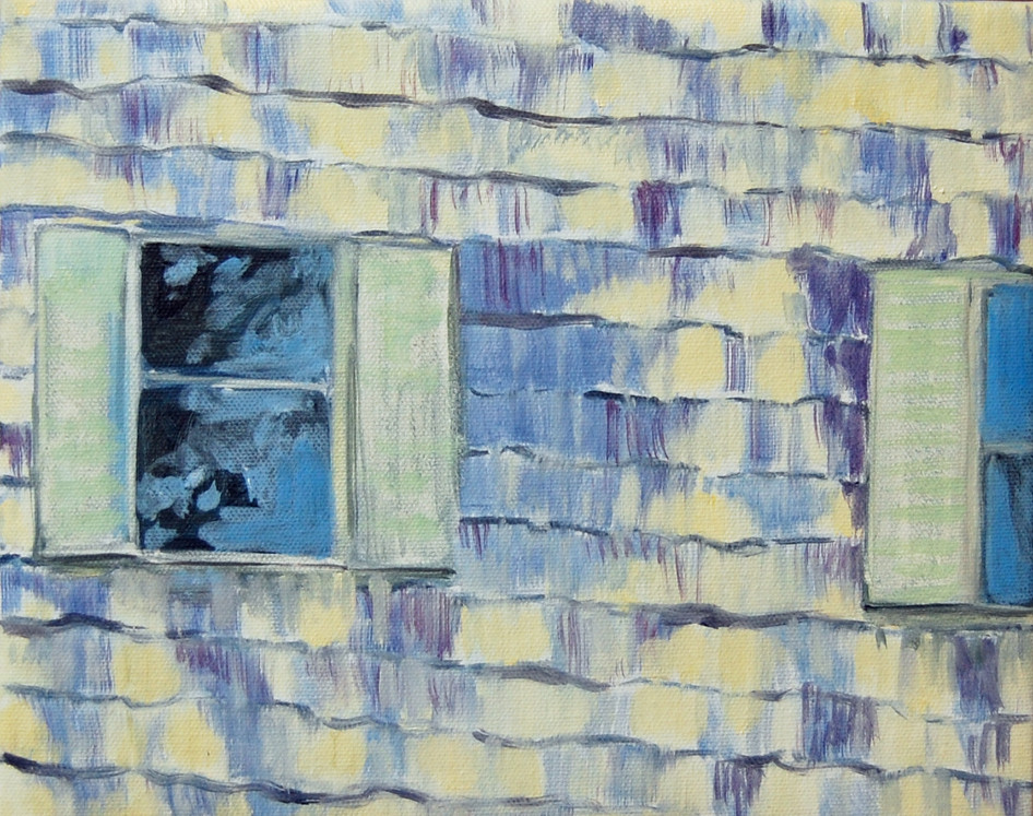 Window And A Half, oil paint on canvas, 8 x 10 inches