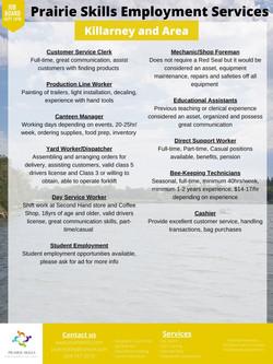 Killarney Job Board September 14th 2 Official