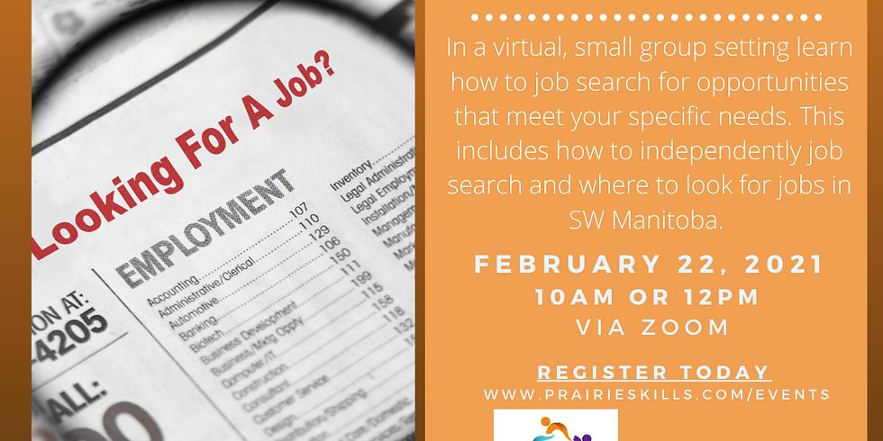 Job Searching Workshop 12 PM