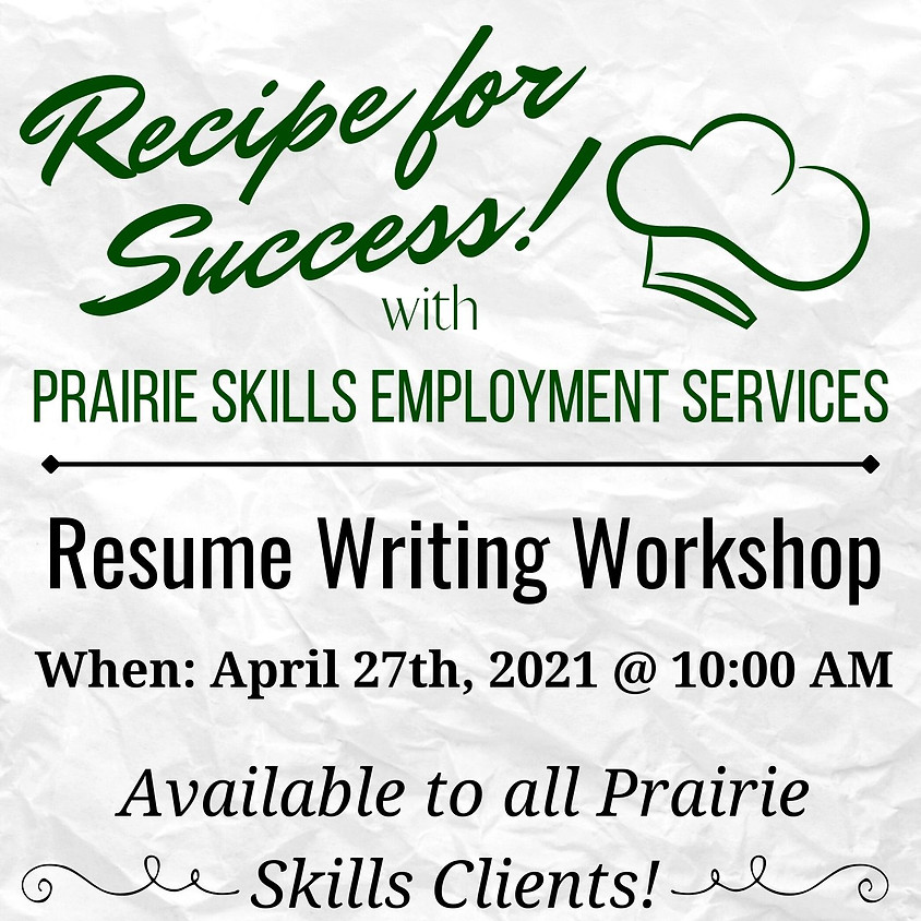 April 27 - 10am Resume Writing
