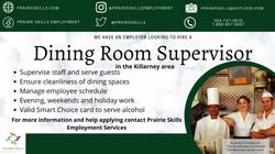 Dining Room Supervisor   - Killarney