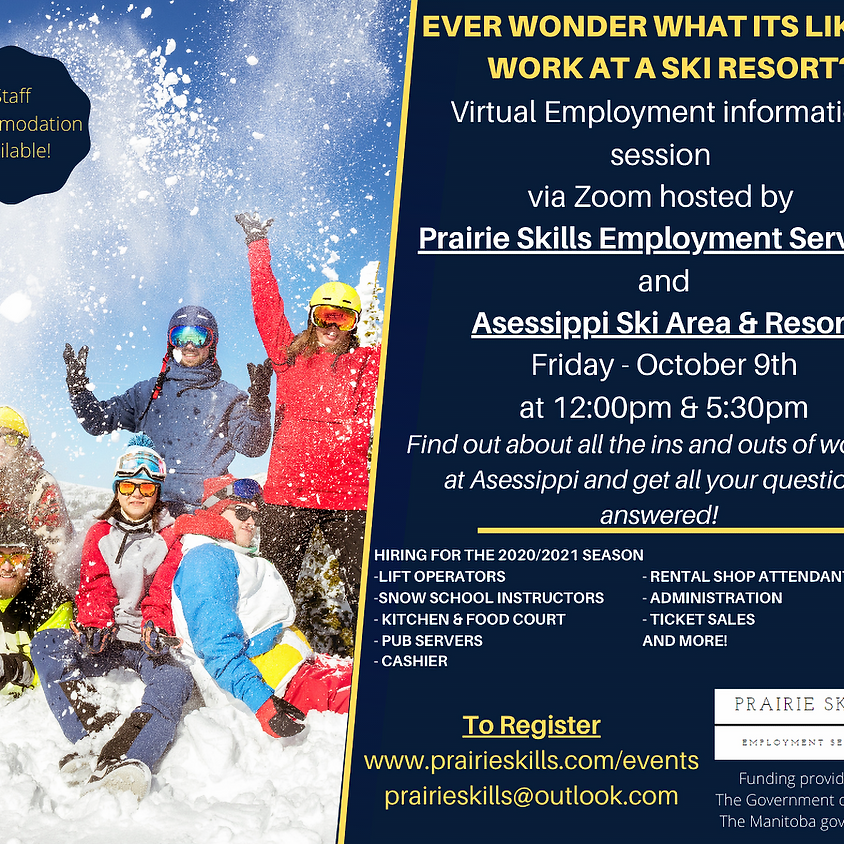 Asessippi Ski Area & Resort Information Session  5:30pm
