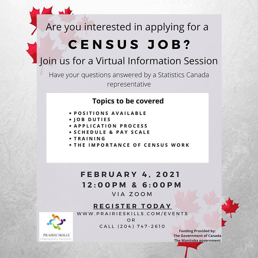 12 pm Census Virtual Information Session