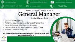 General Manager Killarney Shamrock Center