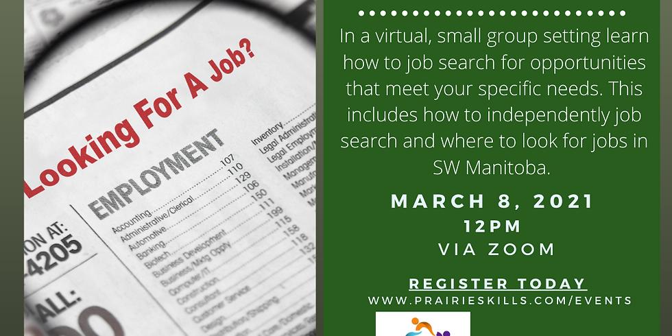 Job Search Workshop  12 PM