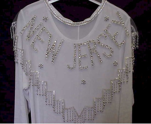New Jersey Beaded and Sequin Collar