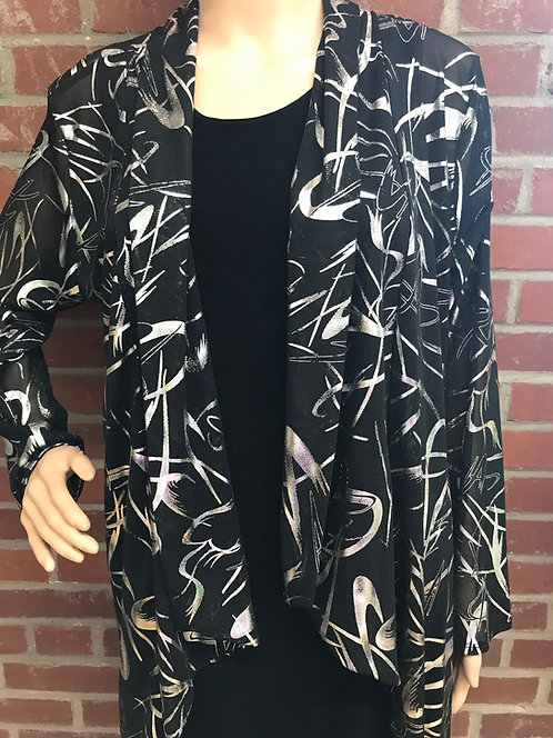 RL 424LP Dressy  Foil Drape Jacket Black/Silver