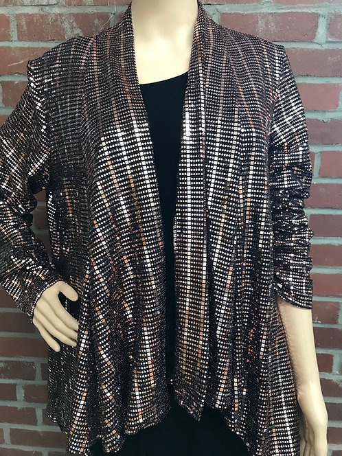 SR 109 878 Dressy  Foil Drape Jacket Rose Gold