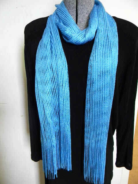 Open Weave Sparkle Accented Scarf
