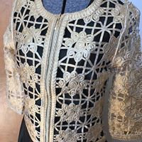 BK Foil Scroll Bolero Jacket