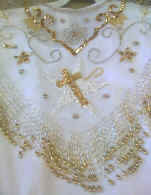 White Shrine Beaded and Sequin Collar