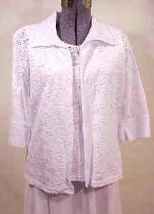 T2568 Eyelit Lace Jacket Set