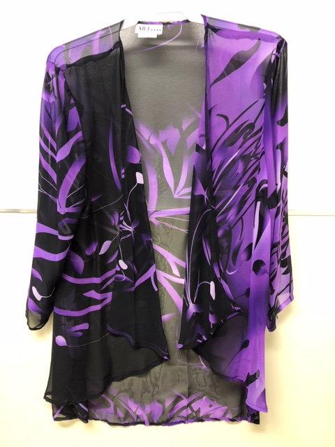 SR 062 Purple Black Jacket