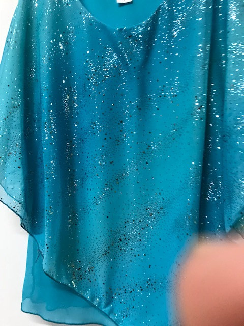 T3115 Turquoise Sparkle Poncho