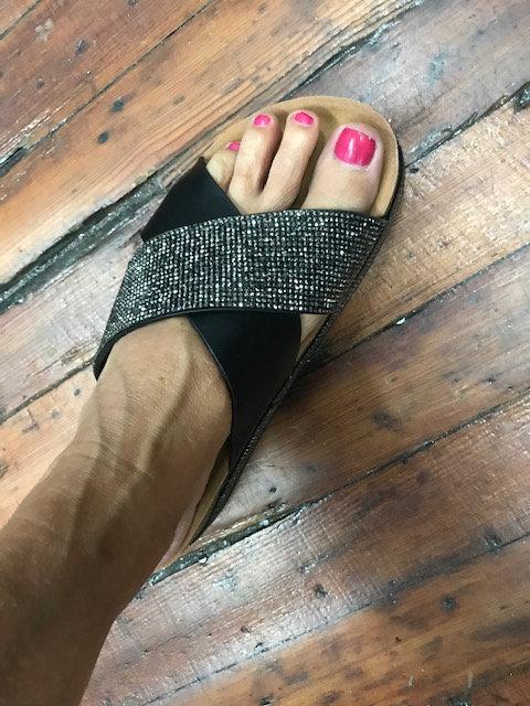 """Dressy Cork  2"""" Platform Slides"""