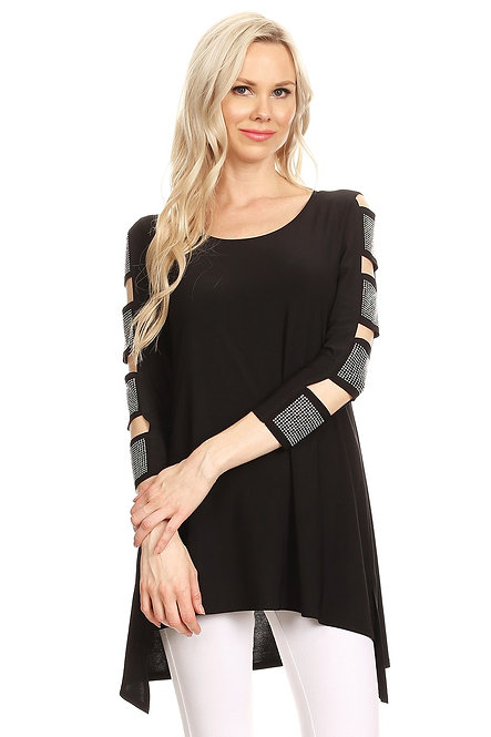 CNS1160 Ladder Sleeve Tunic top
