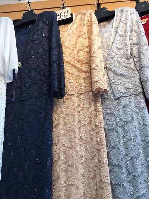 EL3665 Lace Dress Set