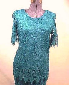 T2343 Short Sleeve Heavy Lace Top