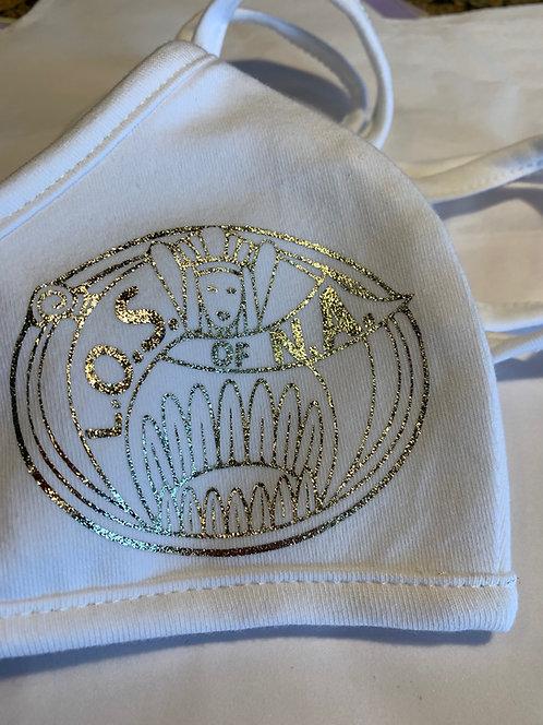 Ladies Oriental Shrine Gold Metal Emblem Face Mask