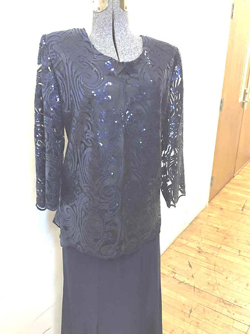 S2467 Sequin Scroll Blouse