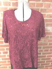 T3216 Short sleeve Lace Top