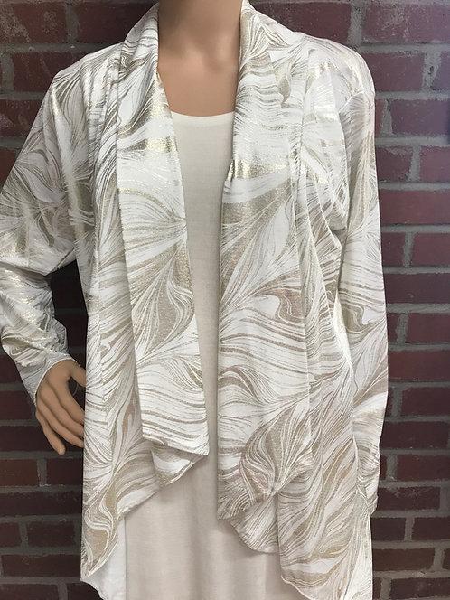 RL 424LP Dressy  Foil Drape Jacket Ivory/Gold