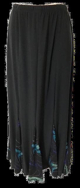 T3055 Swirl Insert 6 panel Skirt