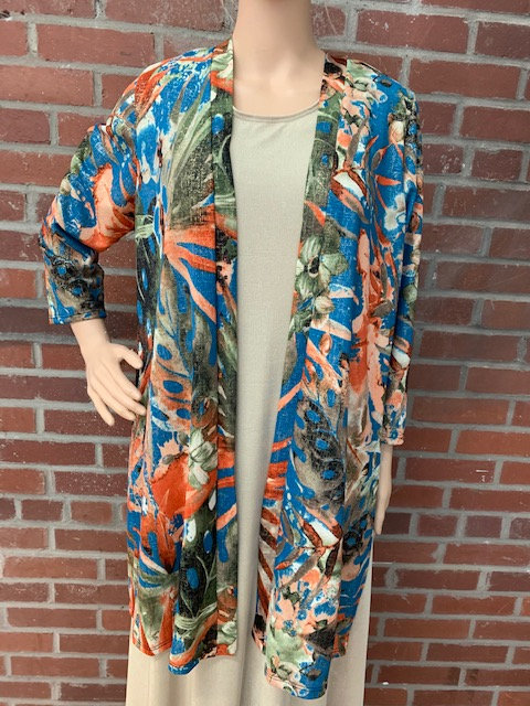 AB471-026  Drape Jacket Fall with Gold Accents