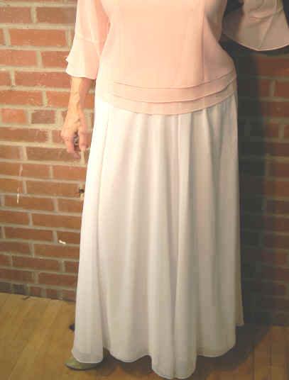 T 2372 Full Sheer Georgette Skirt